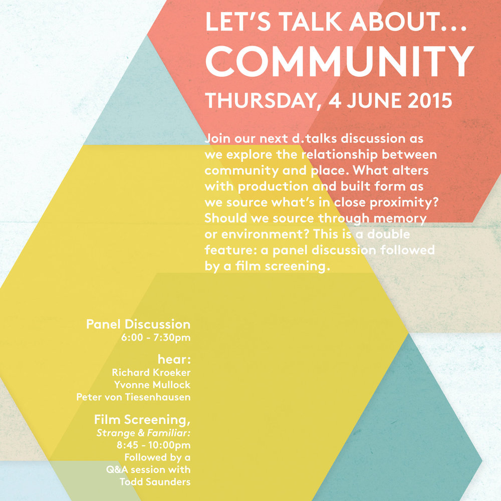 Let's talk about...community (poster: Alex Ferko)