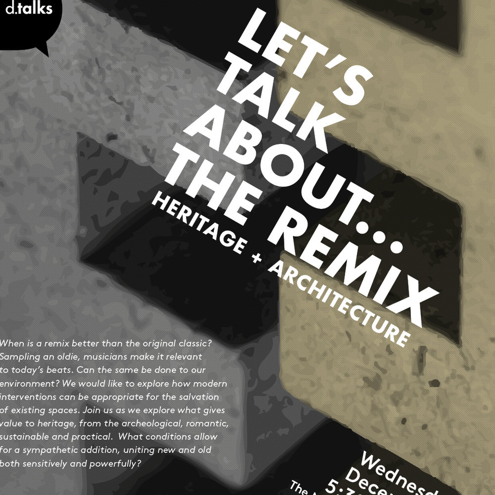 Let's talk about...remix (poster: Alex Ferko)