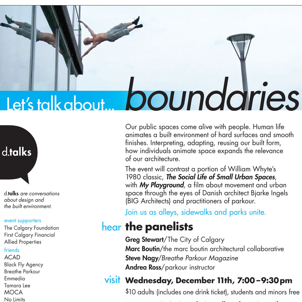 Let's talk about...boundaries (poster: Julie Wons)