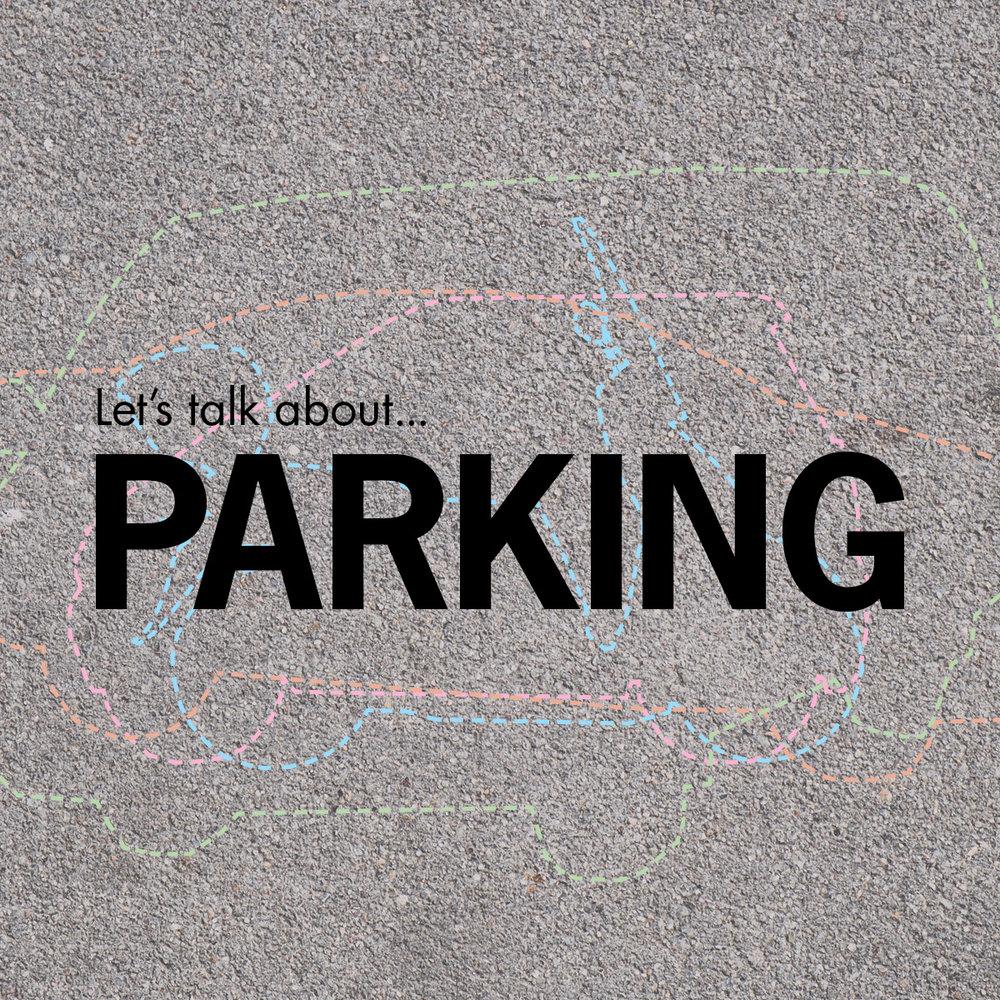 Let's talk about...parking (poster: Julie Wons)