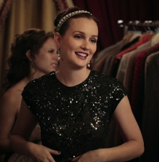 GOSSIP GIRL / LEIGHTON MEESTER    The One Luxe  was featured on The CW's Gossip Girl, worn by Leighton Meester in character as Blair Waldorf.