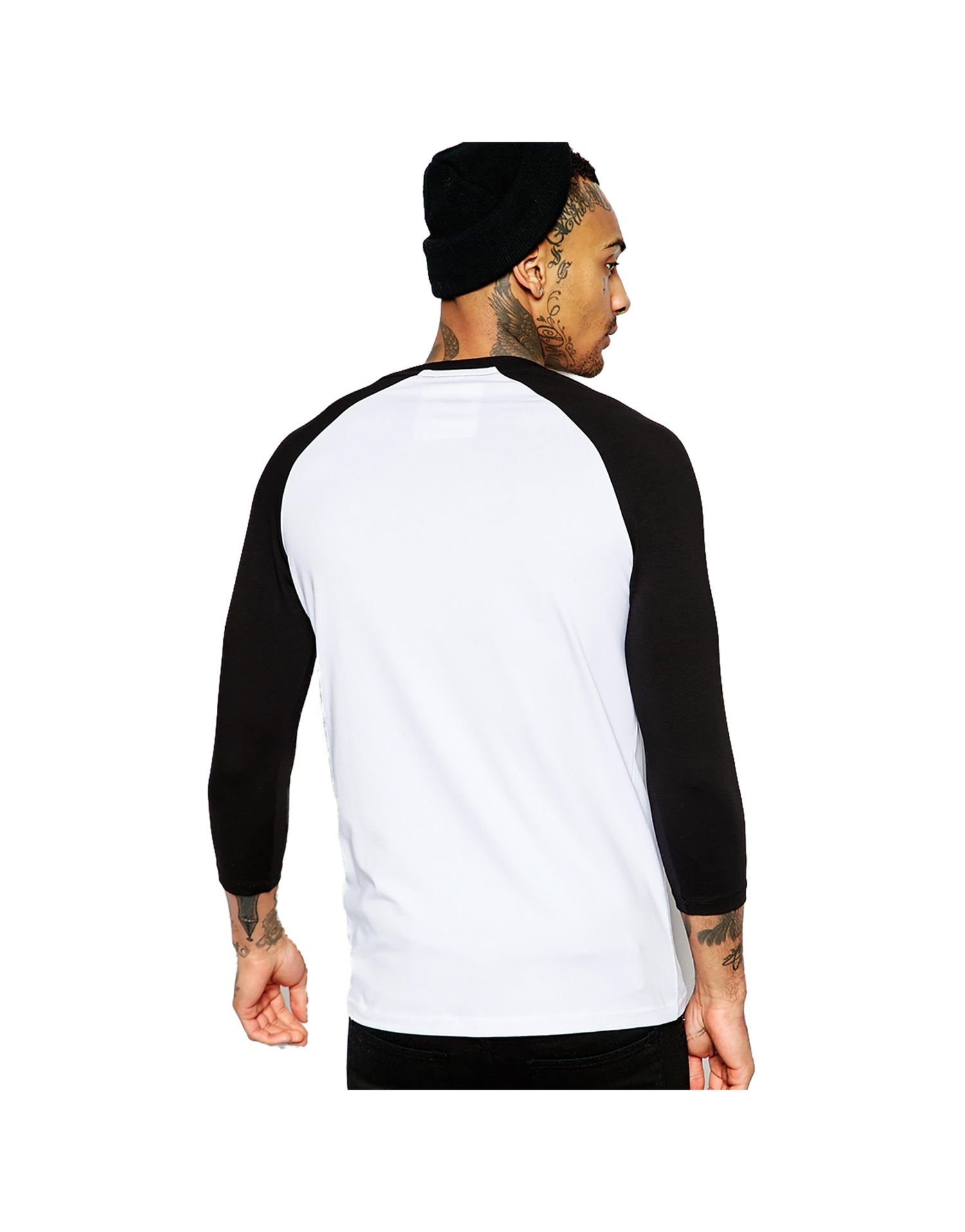 c1a9c679 White Black Contrast Raglan Long Sleeve T Shirt – EDGE Engineering ...