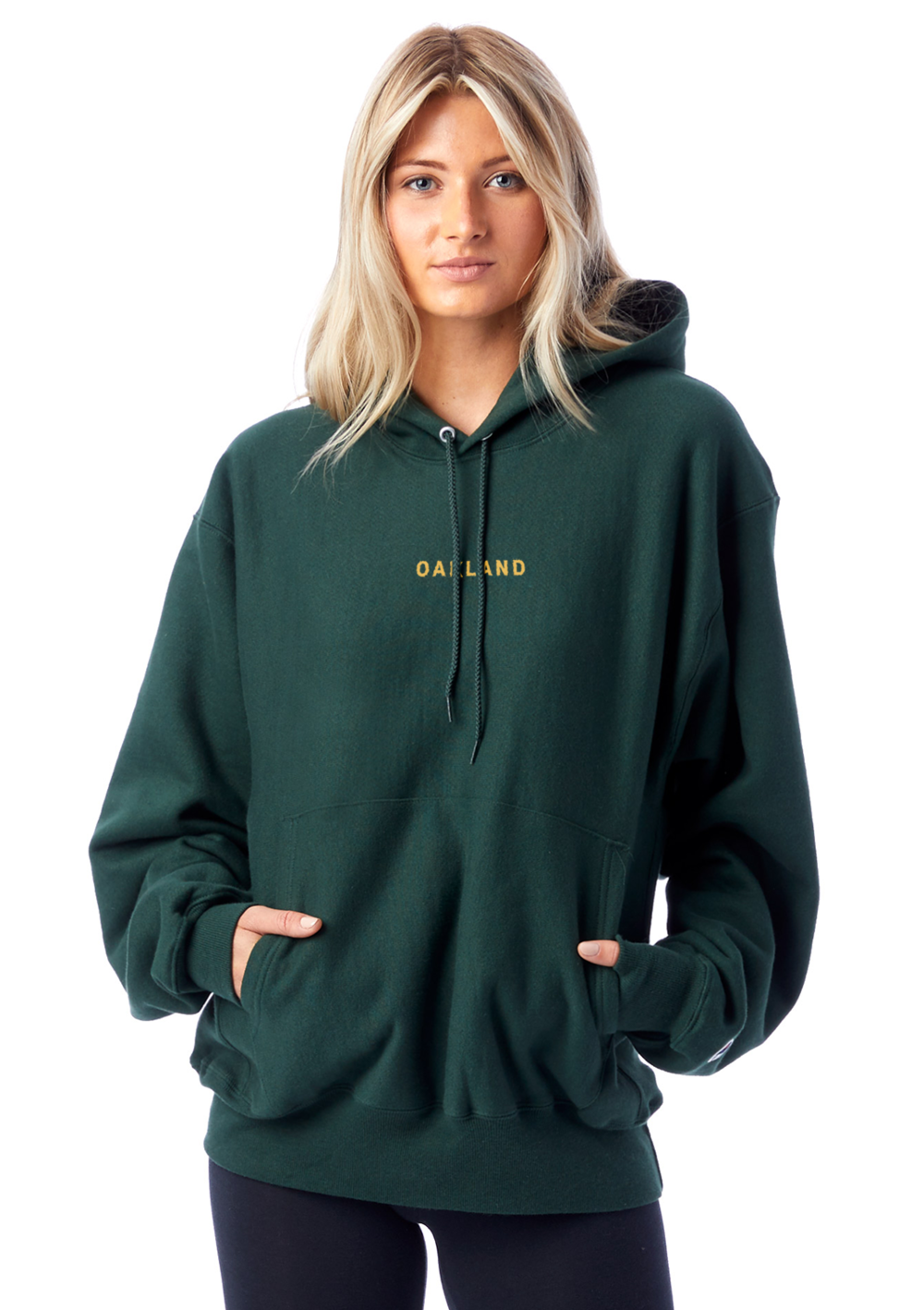 Sky Oak Co_THE BAY_Champion_green_reverse_weave_hoodie_women_model_cover.png