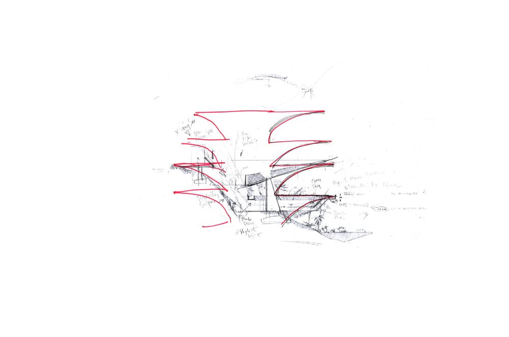 john lautner - acapulco house  w/ sketch