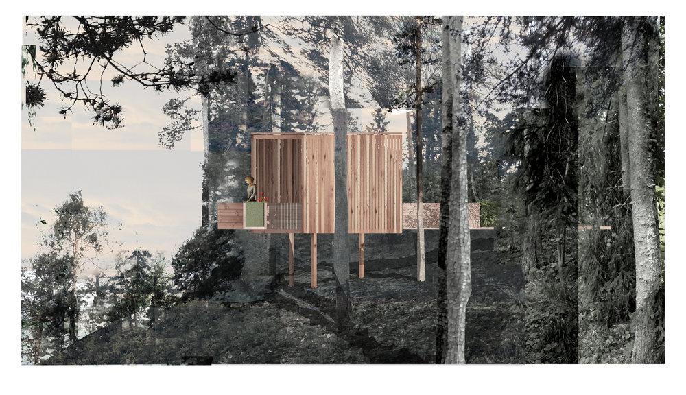 Illustrasjoner utført i sammarbeid med Simon Furuli for Rintala Eggertsson arkitekter