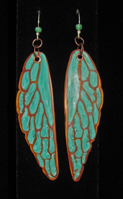 Katydid earrings