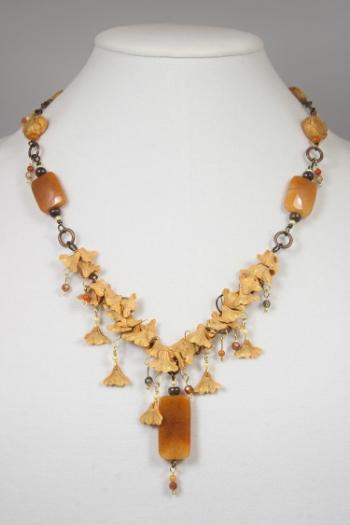 Gingko Rain necklace