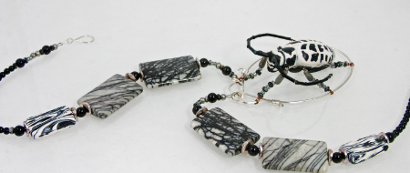 Cottonwood Tree Borer necklace