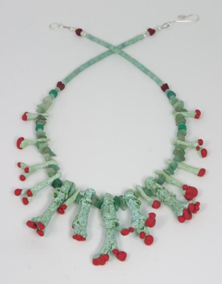 British Soldier Lichen necklace