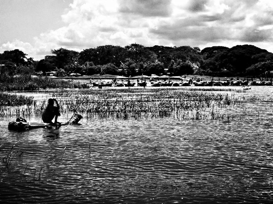 Hard Working Local Fisherman in Awassa