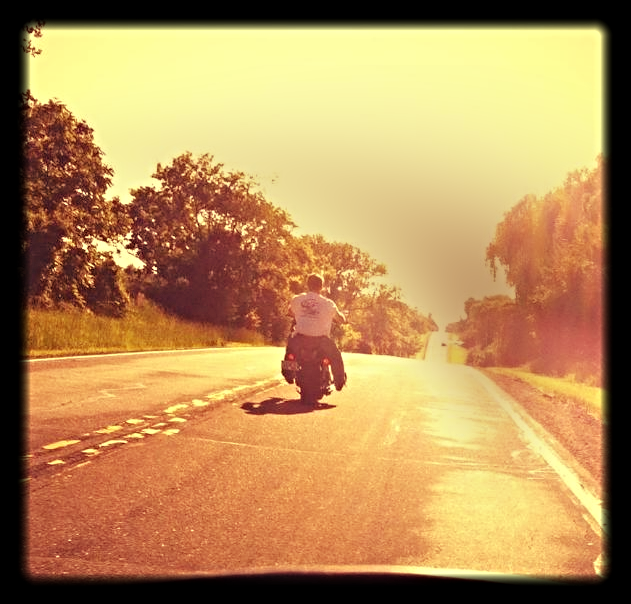 Otis off into the Sunset
