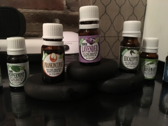Essential oils! I didn't have any Juniper EO when I took this picture.