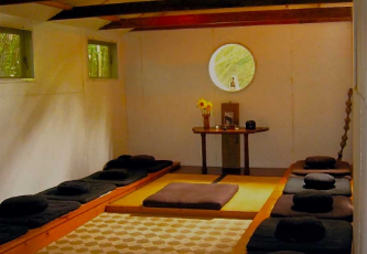 The main meditation hall at the Ocean Zendo, now only a memory.