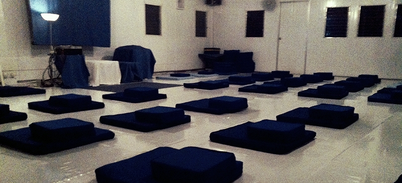 DHAMA PHALA , MEDITATION HALL | Day 0 - Before the first meditation of the course begins
