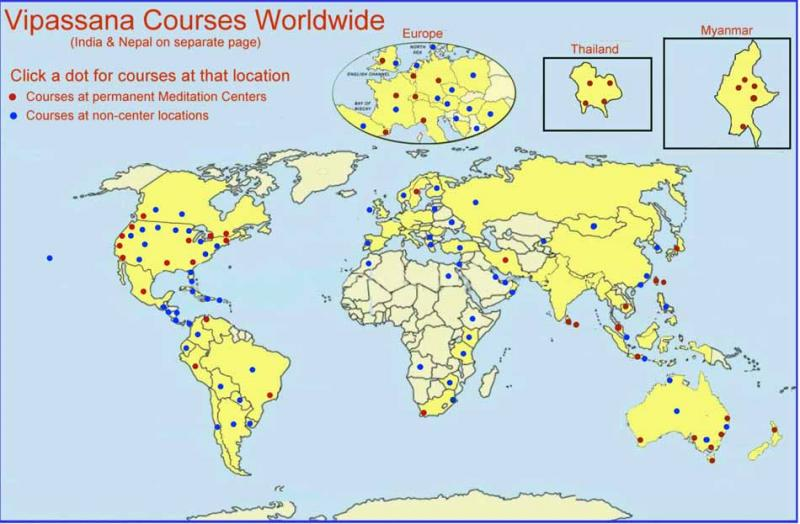 Vipassana Courses Worldwide