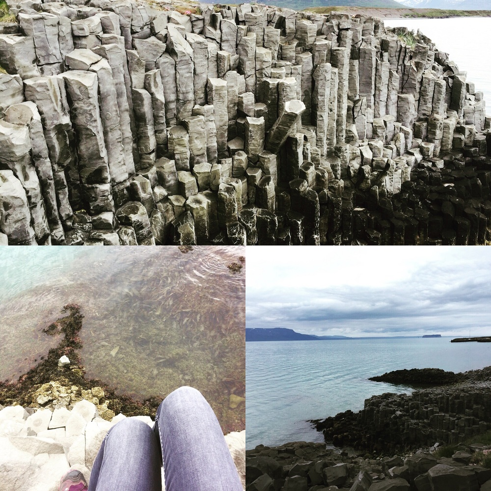 basalt columns in Hofsos