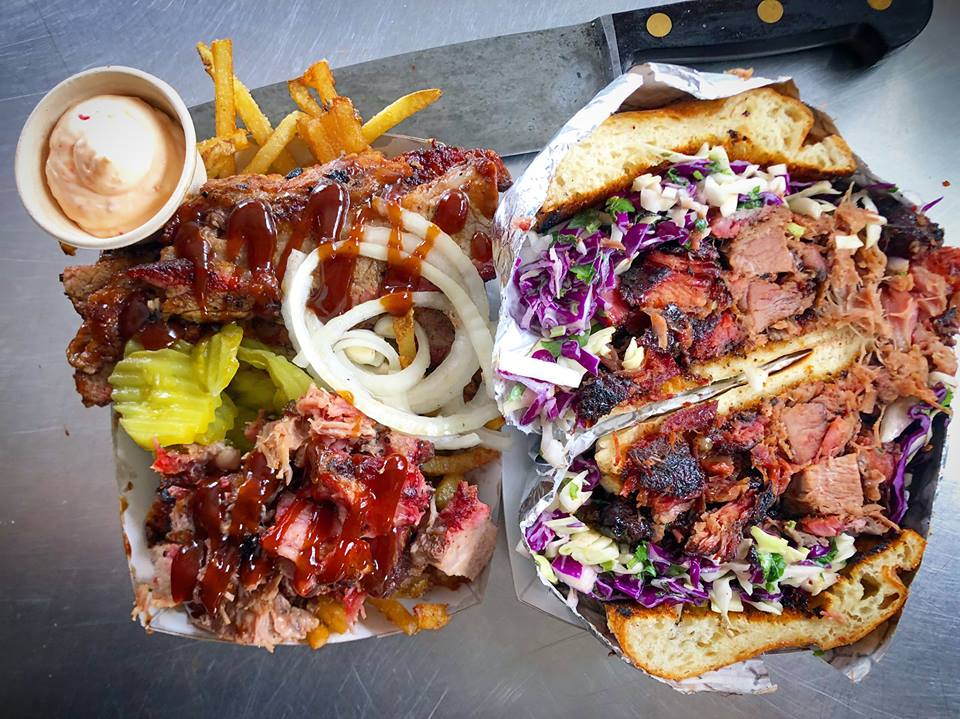Pit-Boss Fries and Pulled Pork Sandwich -