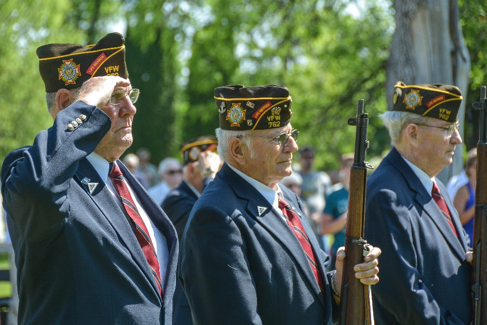VFW members during a Memorial Day ceremony at Riverside Cemetery in south Fargo on Monday, May 30, 2016. Rick Abbott / The Forum