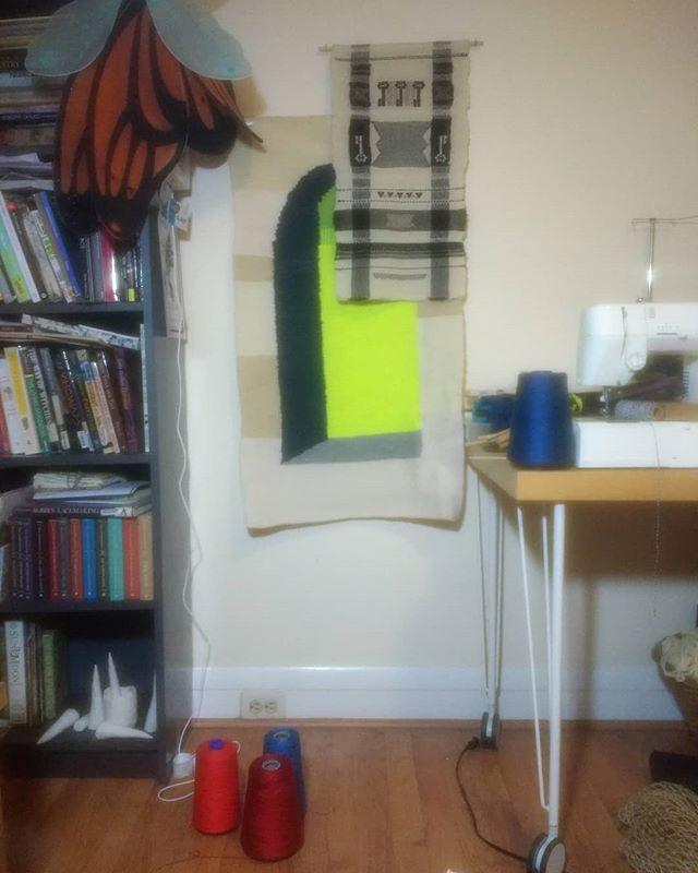 studio still life.  #tapestry #handwoven #handwork #weaveweird #modernweaving #madeinbaltimore