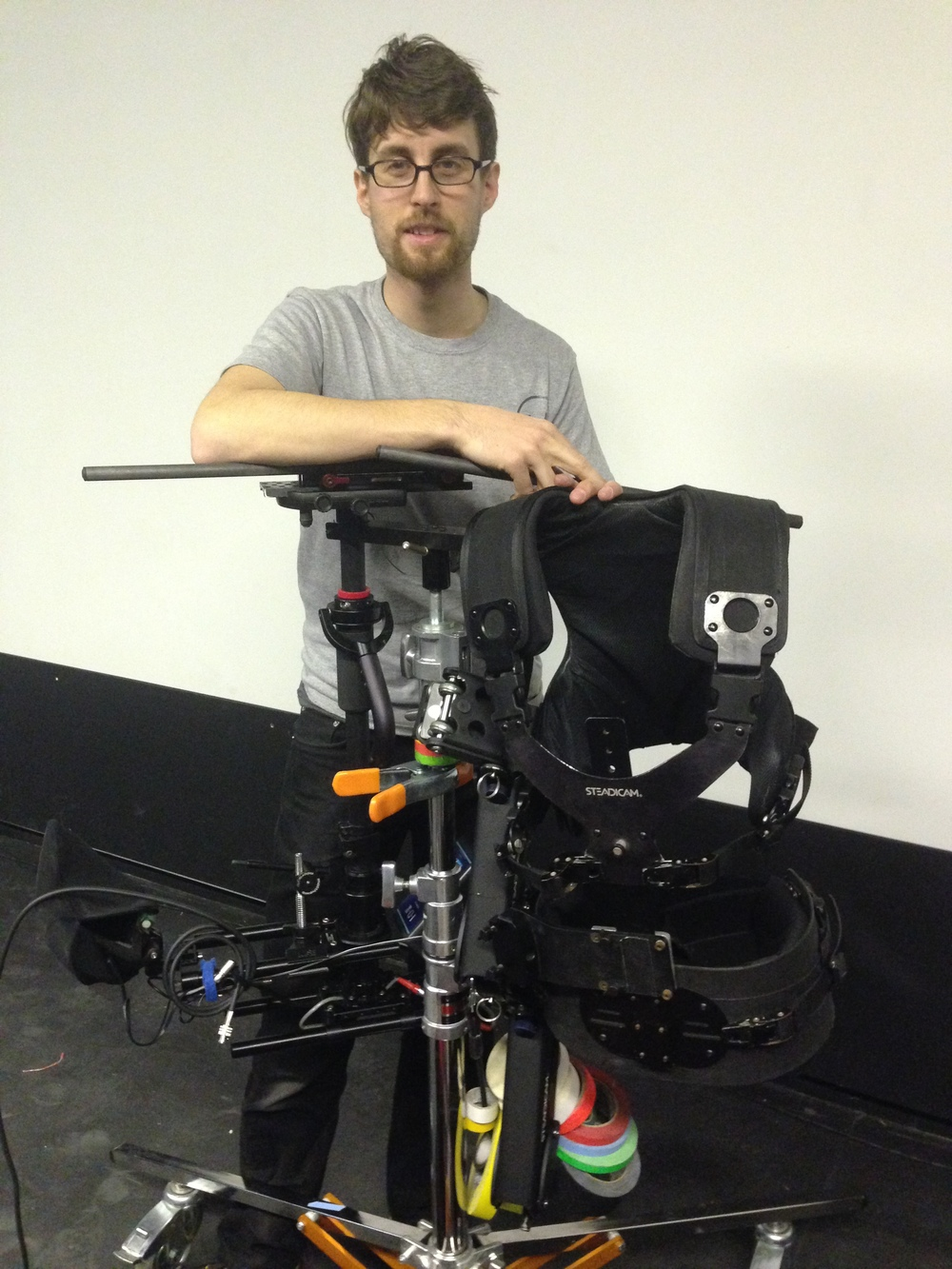 Loic De Lamb Stedicam operator- his lightweigh rig was a gift from Larry McConkey. Thanks for helping Loic. Wish I had taken your advice and gotten a focus puller who knew how to use a remote- I'll never make that mistake again