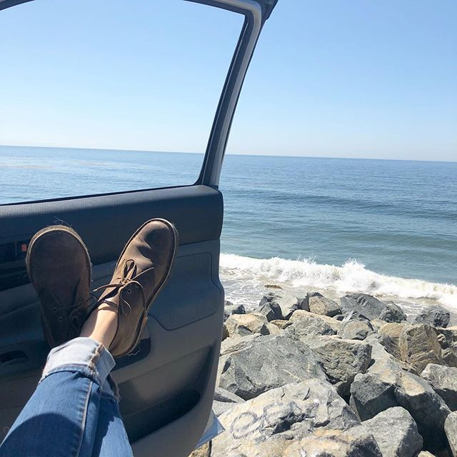 Don't mind if I do. Sometimes being almost an hour early for a meeting isn't a bad thing. #malibu #nocomplaininghere