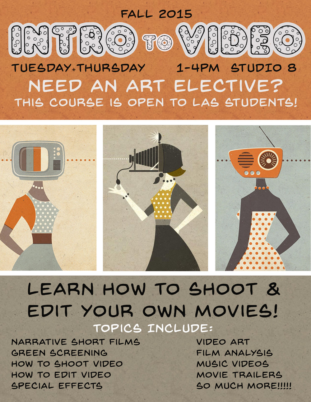 Flyer: Intro to Video Course