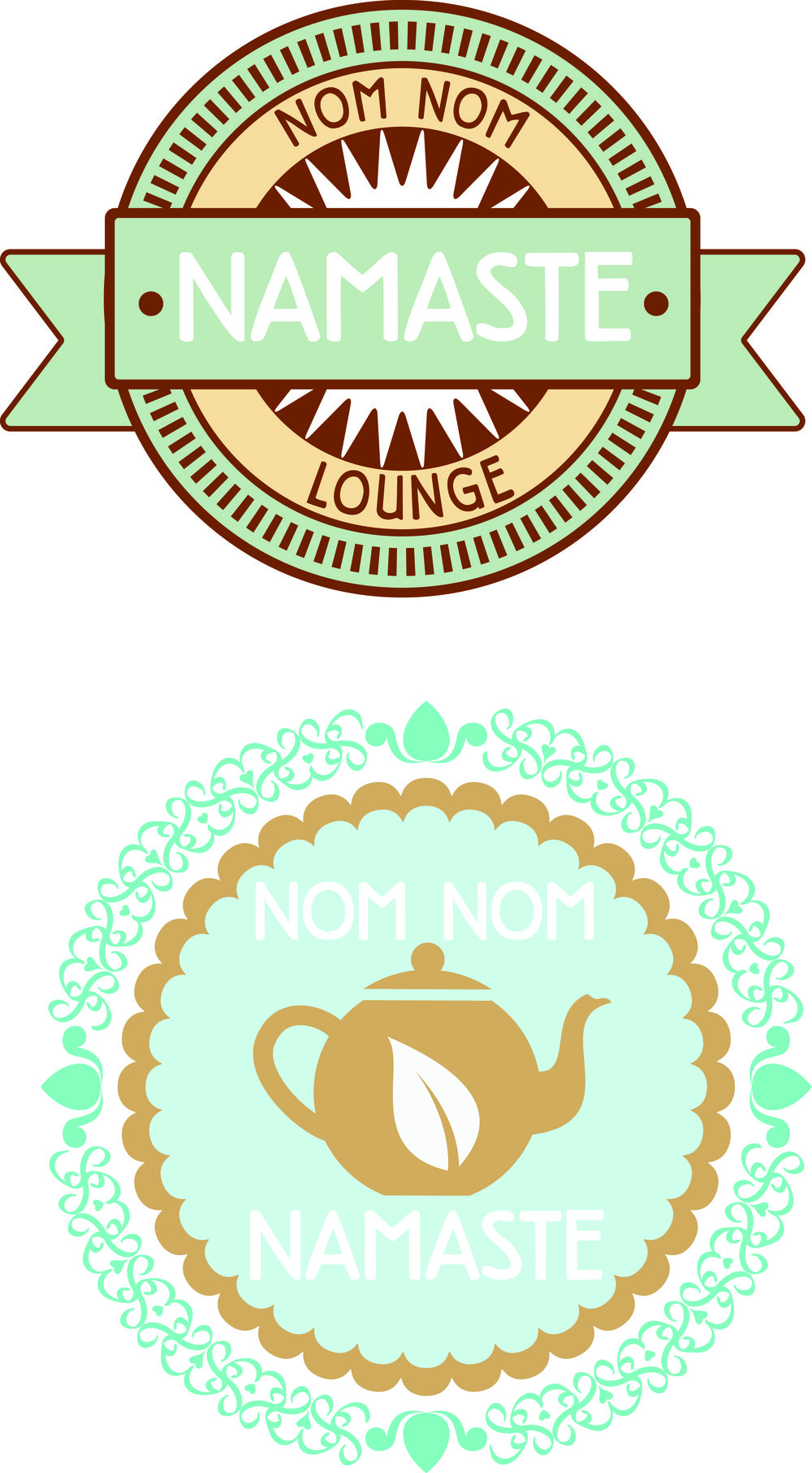 Logo Mockups - Nom Nom Namaste Cafe