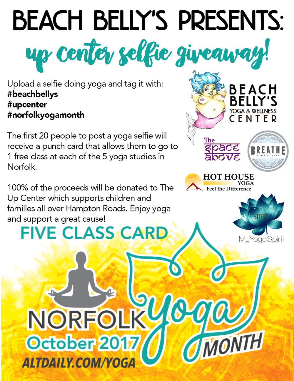 Norfolk Yoga Month Flyer