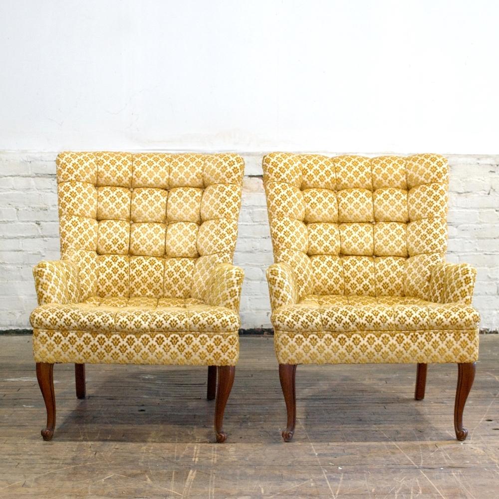 Yellow Seth Arm Chairs