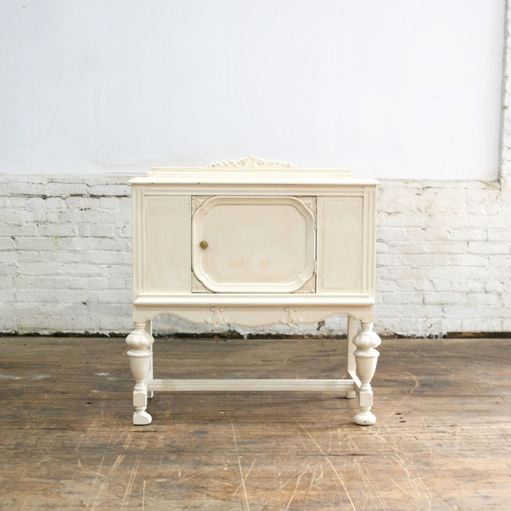 "White Buffet  34"" wide, 18"" deep, 3' high"