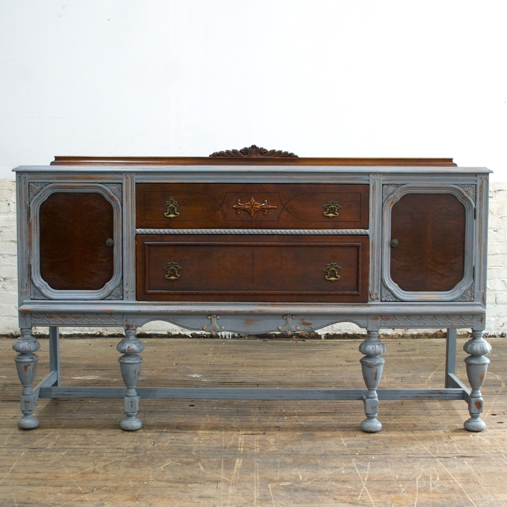 "Jacobean buffet  5'5"" wide, 20"" deep, 42"" high"