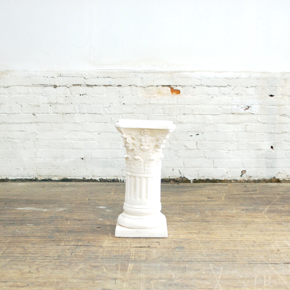 White Pedestals  2' high