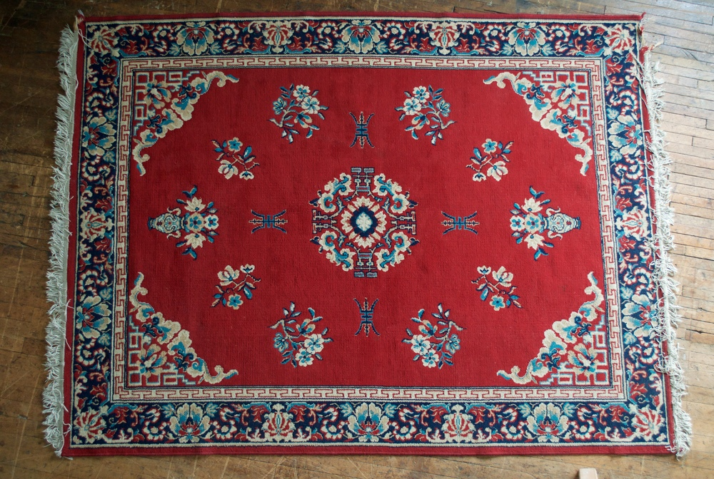 Red Oriental Area Rug (8 x 5)