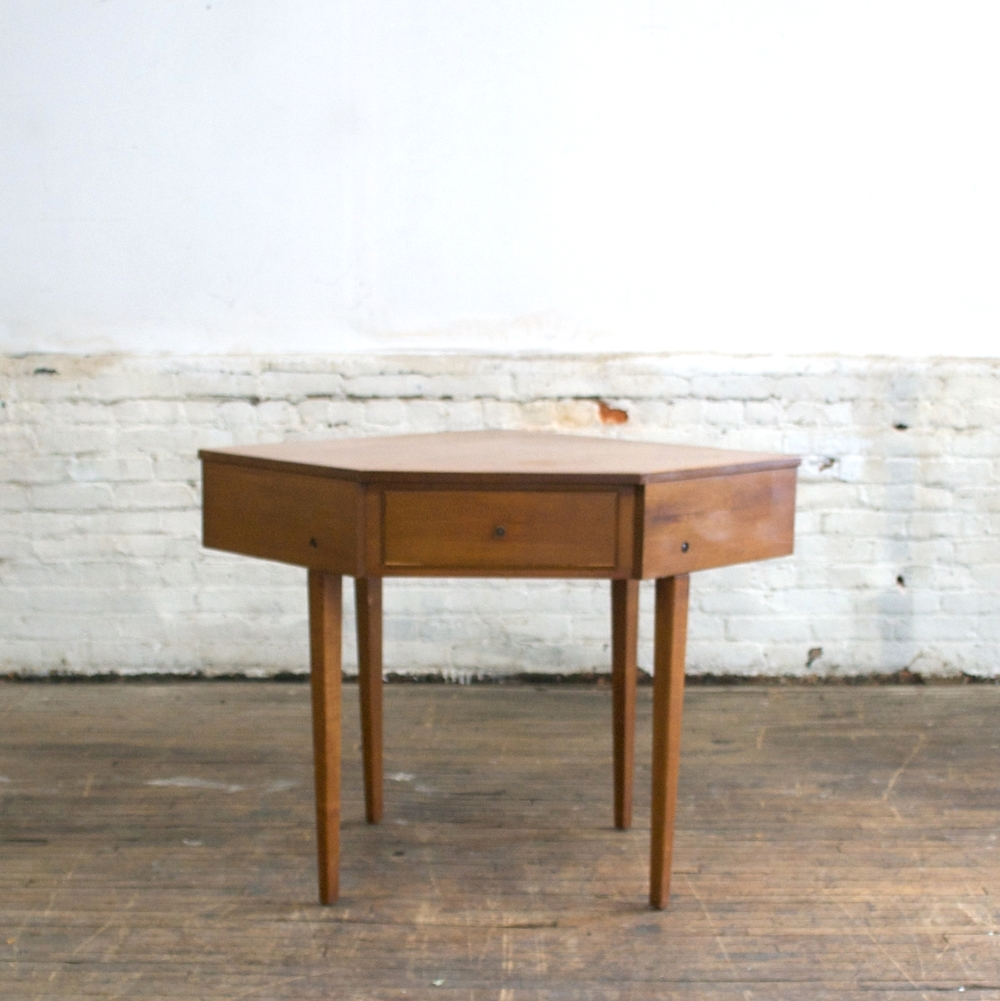 Mid Century Corner Table