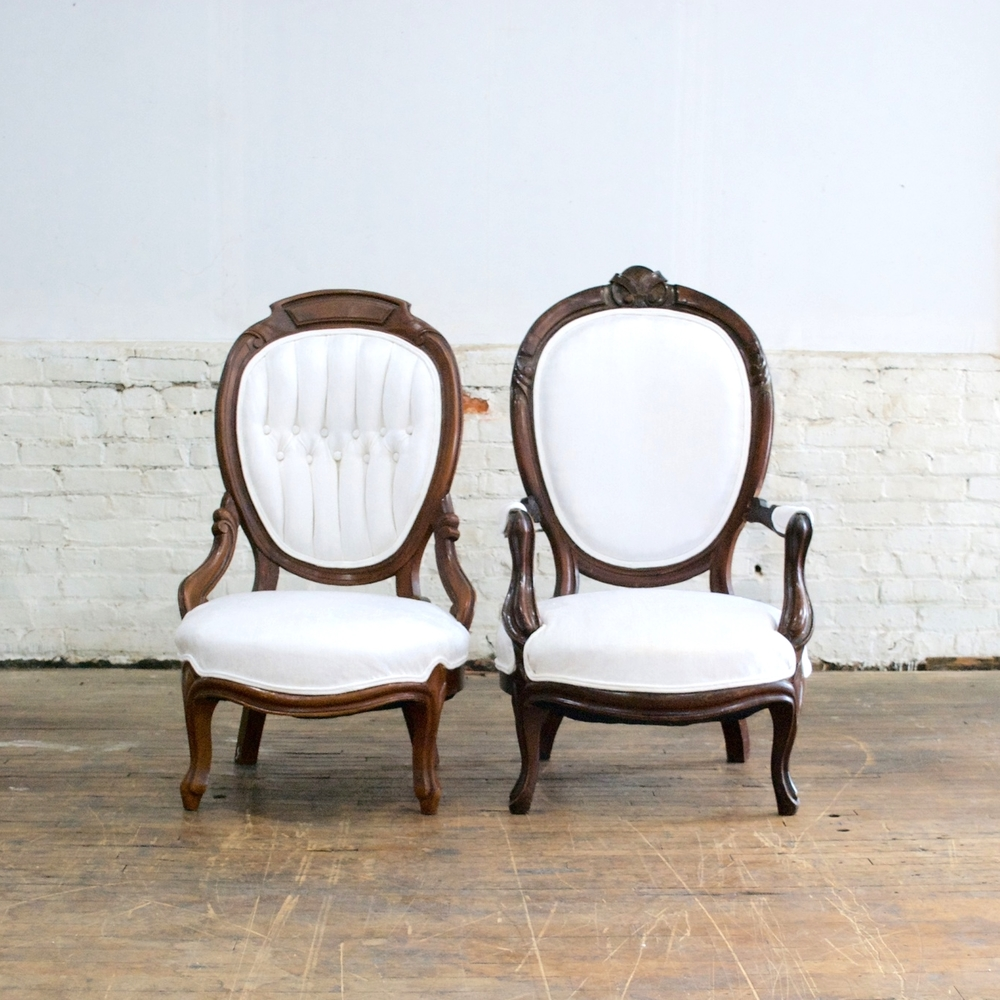 His/ Her Parlor Chairs