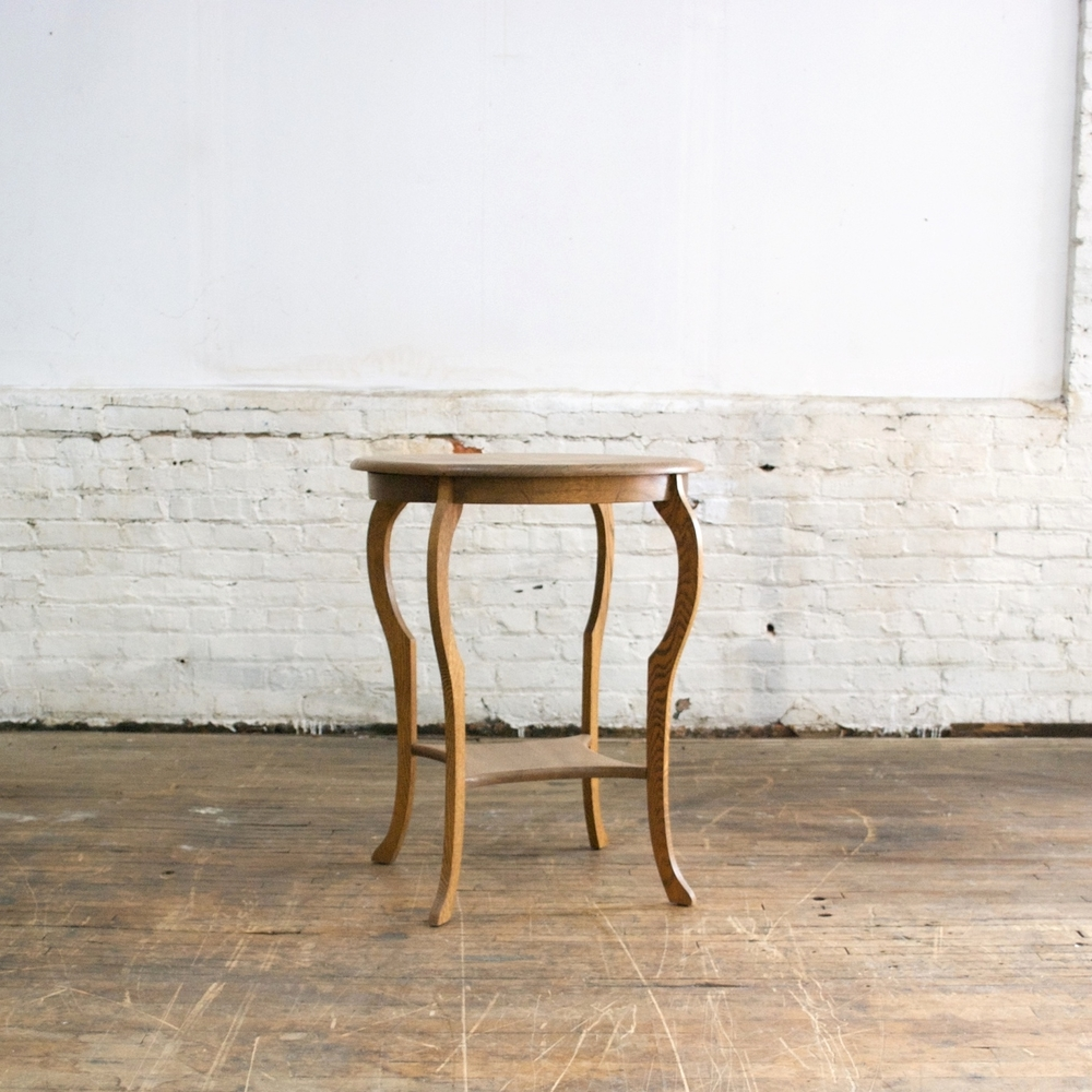 Button Top Side Table