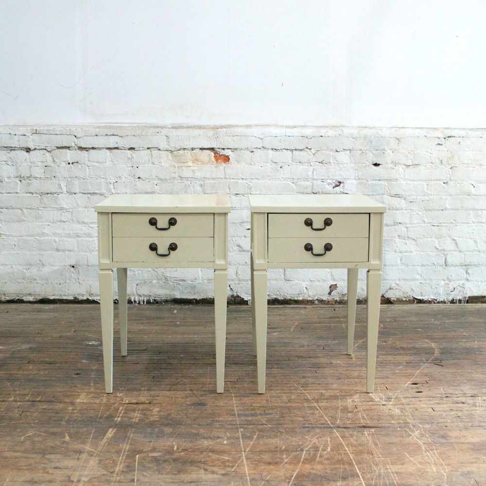 Twin White Side Tables
