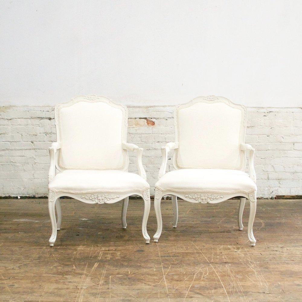 White Kat Arm Chairs