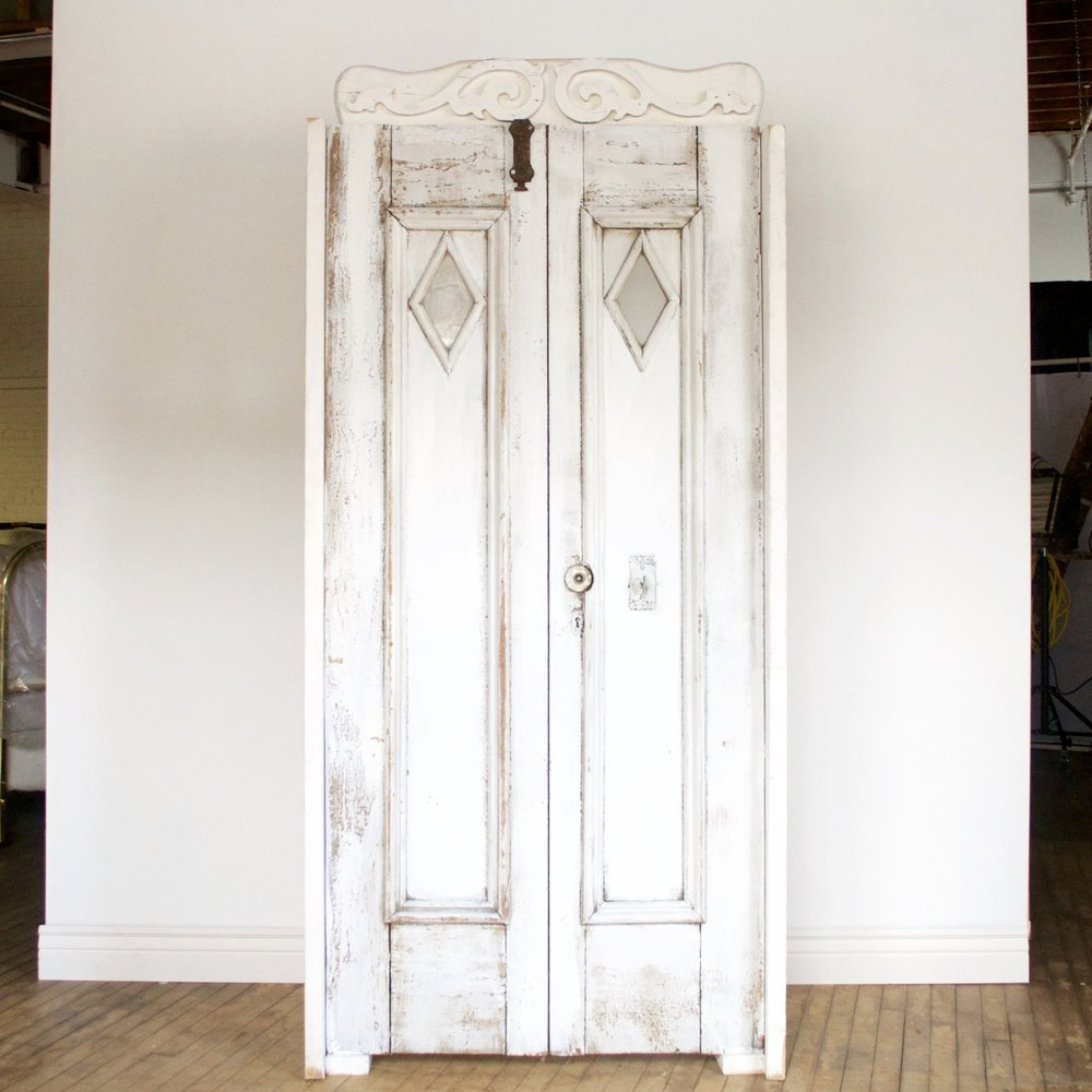 "Double Doors (Stationary)  39"" wide 19' deep 83"" high"