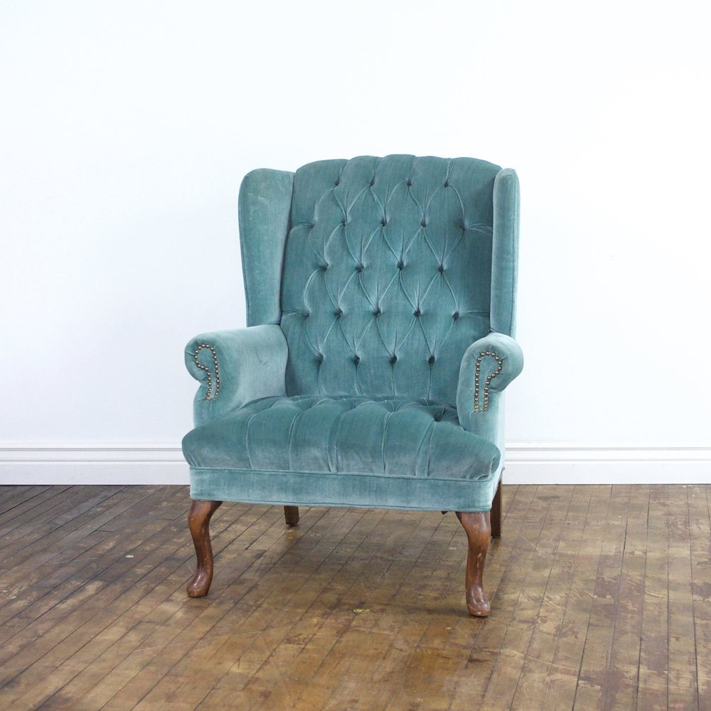 "Melanie Wingback Chair    $72    31""w 35""d 40""h"