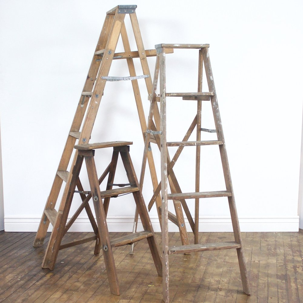 Rustic Ladders    $15, $30    3' 5' or 6'