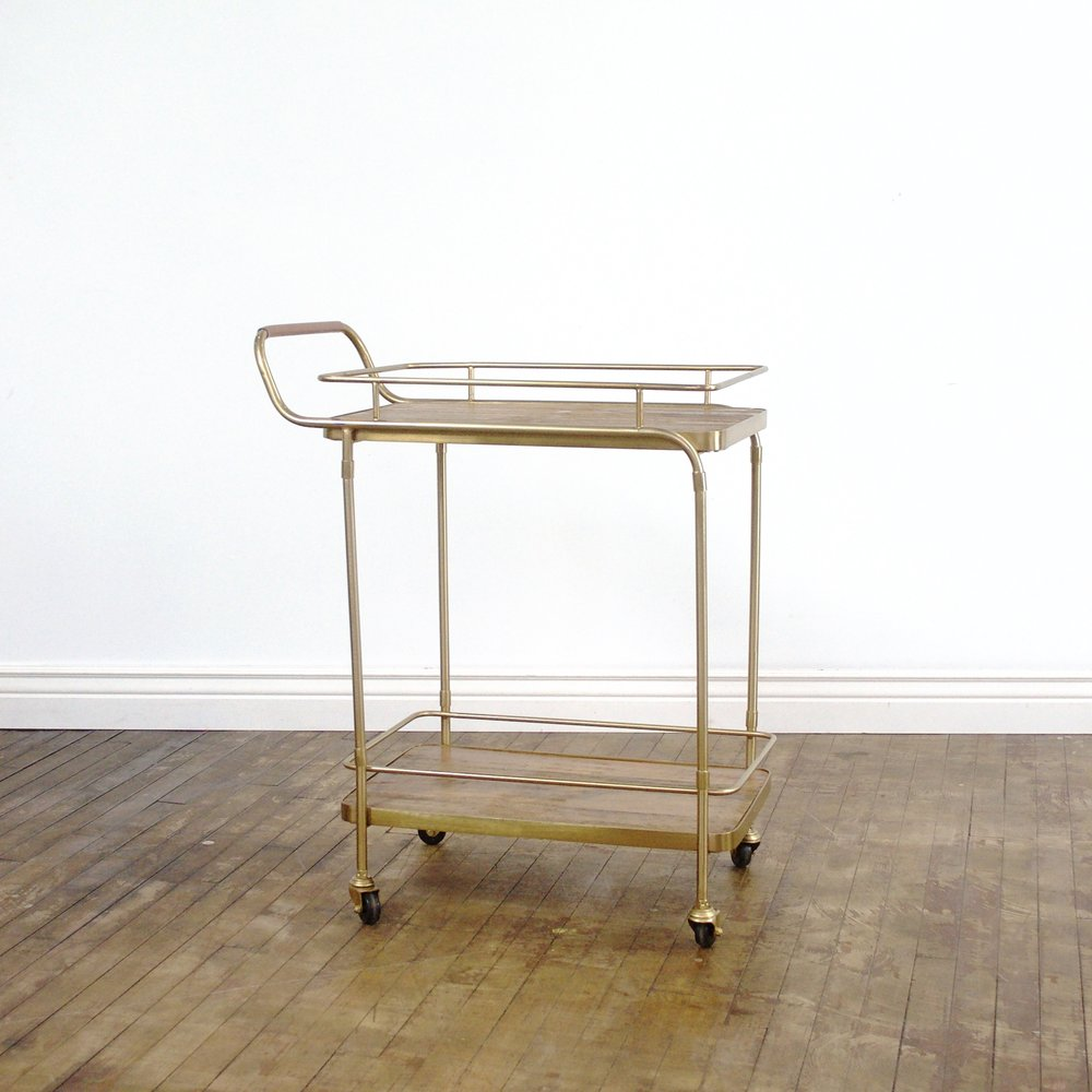 "Christina Bar Cart  28""wide, 17""deep, 36""high"