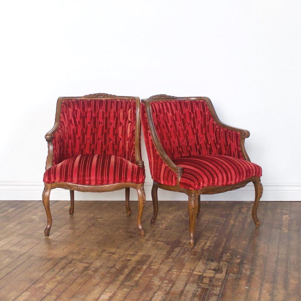 """Cynthia Chair    $144 pair    2'w 2' d"""" 2'7""""h"""