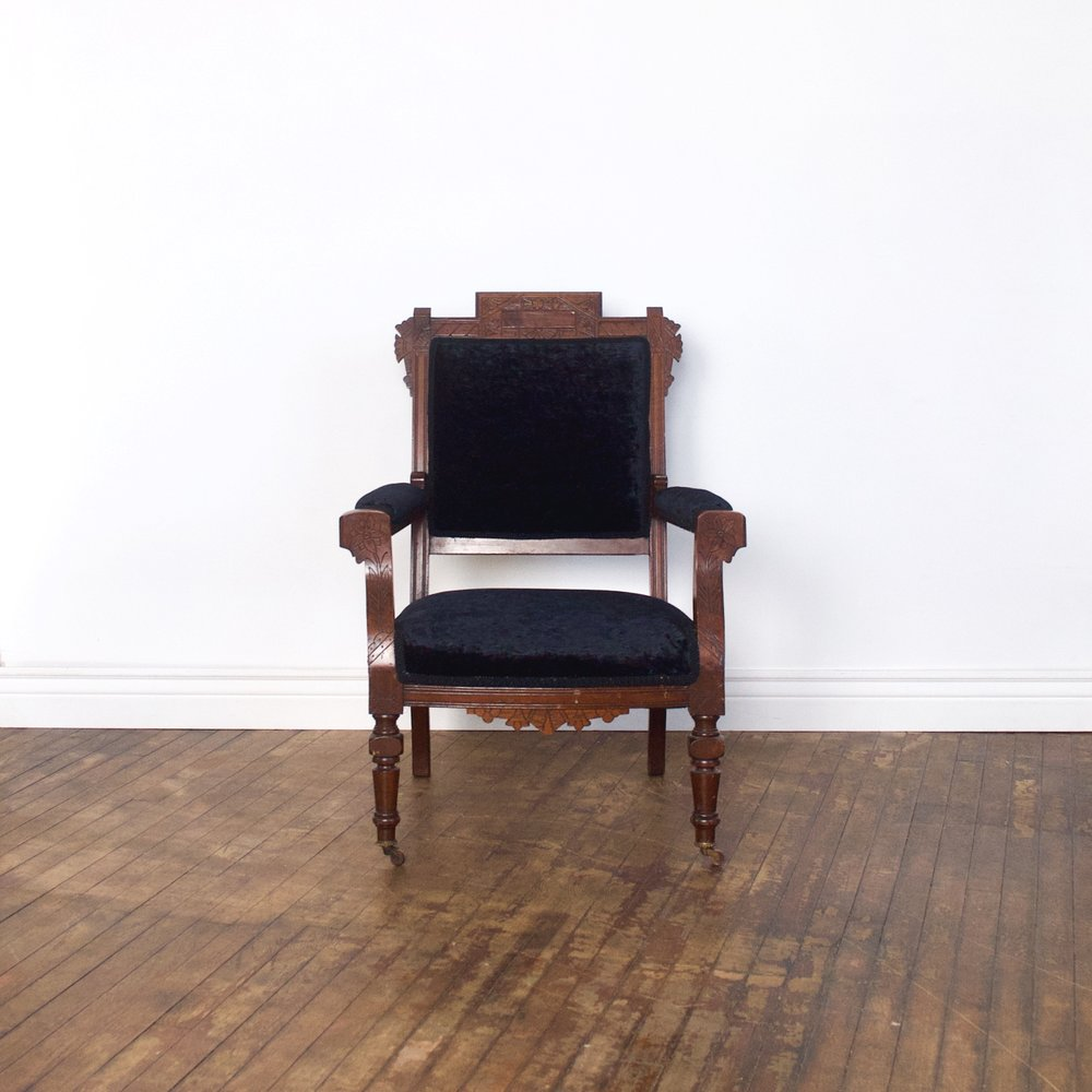 "Poe Arm Chair    $72    2'4""w 1'9""d 3'2""h"