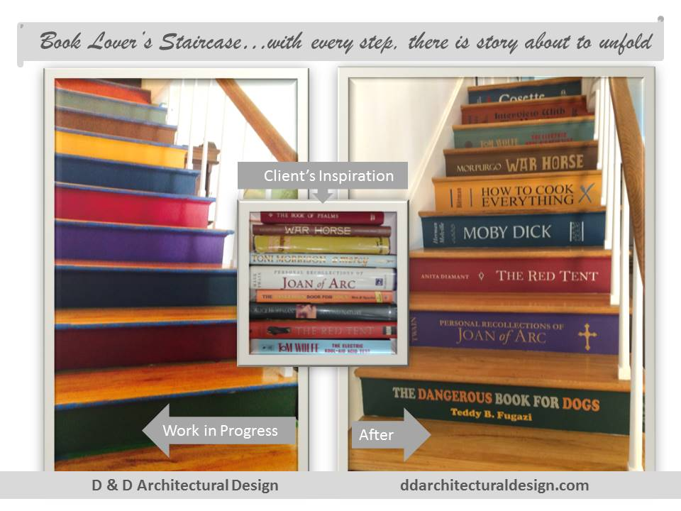 Book-themed staircase