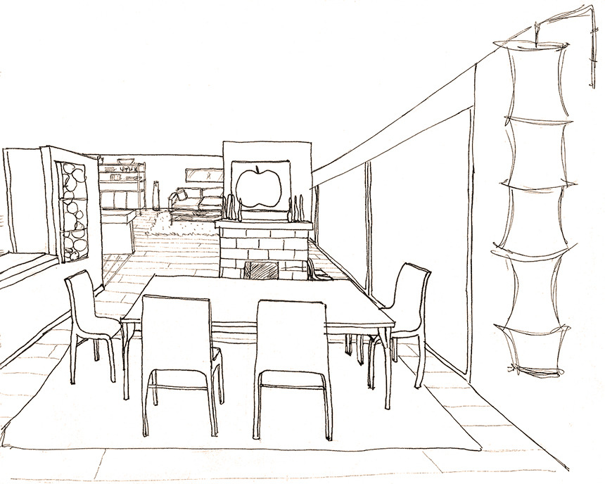 Perspective drawings of a modern house — Sophiequi - Draw My House Floor Plan