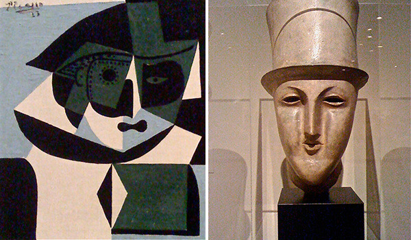 Harlequin by Pablo Picasso and Le Boulevardier by Elie Nadelman