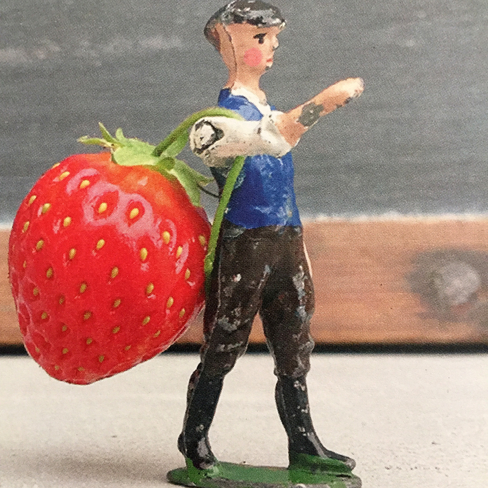 This strawberry man makes me smile :)