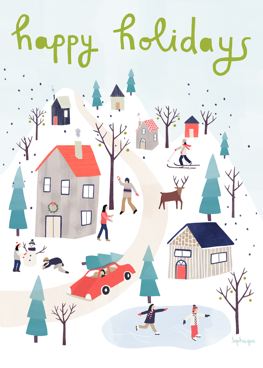 Getting in the holiday spirit with a Christmas town — Sophiequi