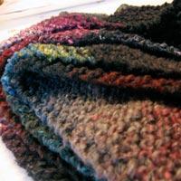 Bias Knit Scarf